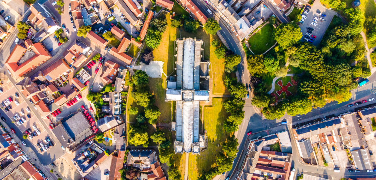 Selby Abbey Drone Shot