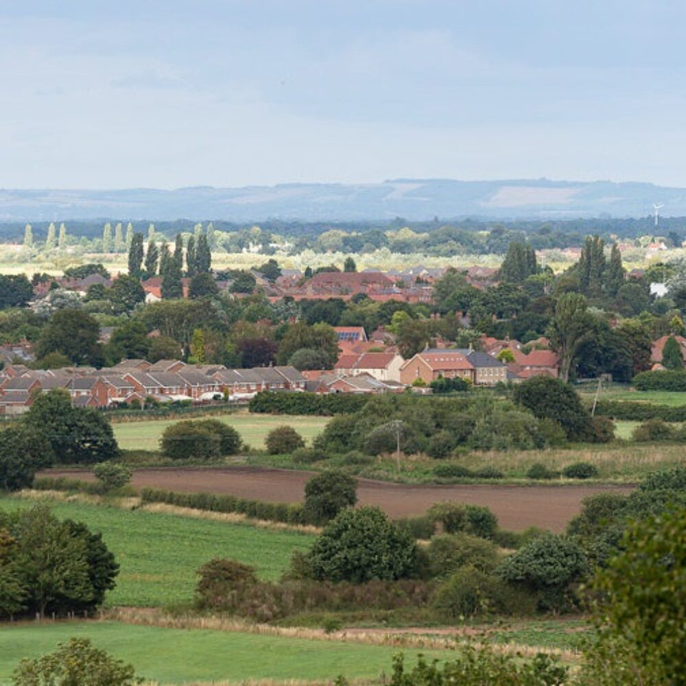 View across fields from Brayton Barff