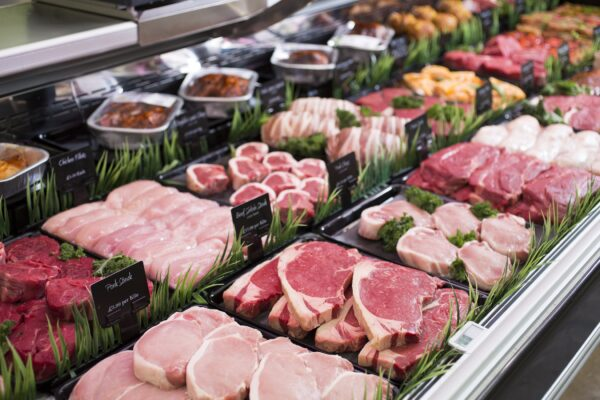 An image of meats available on the butcher counter
