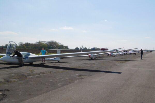 Preparing to glide at Burn