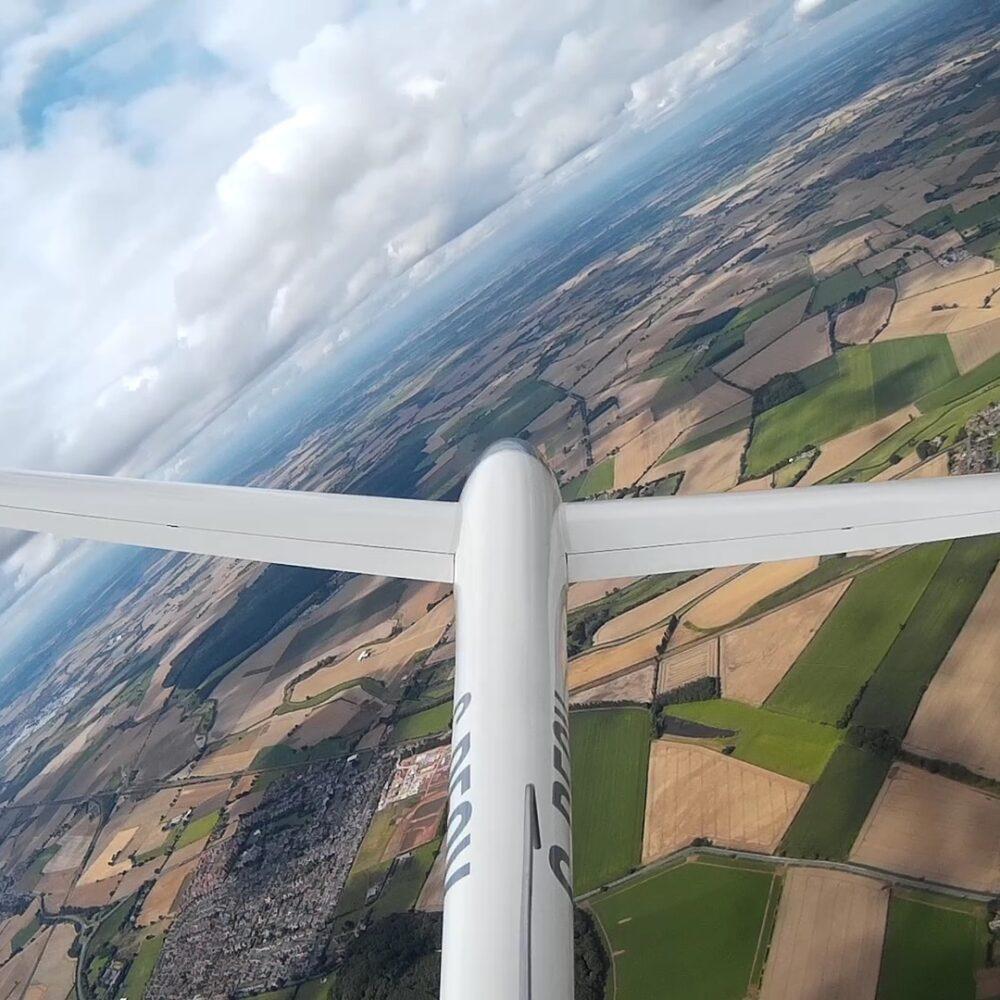Flying at Burn Gliding Club
