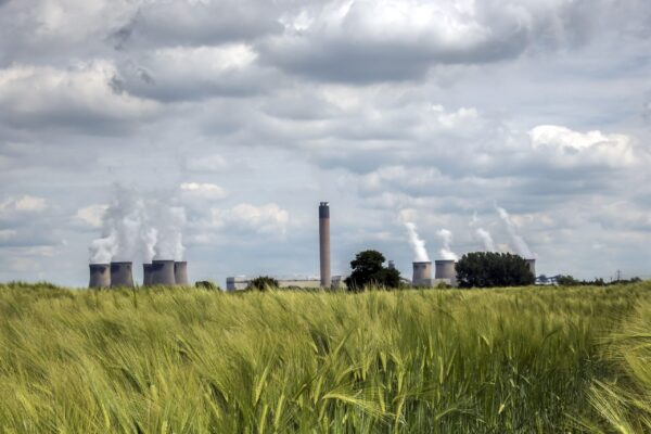 Field and view of Drax Power Station