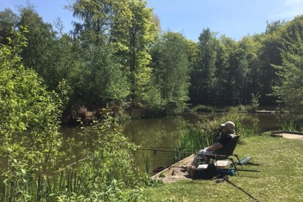 Guest fishing at Hollicarrs