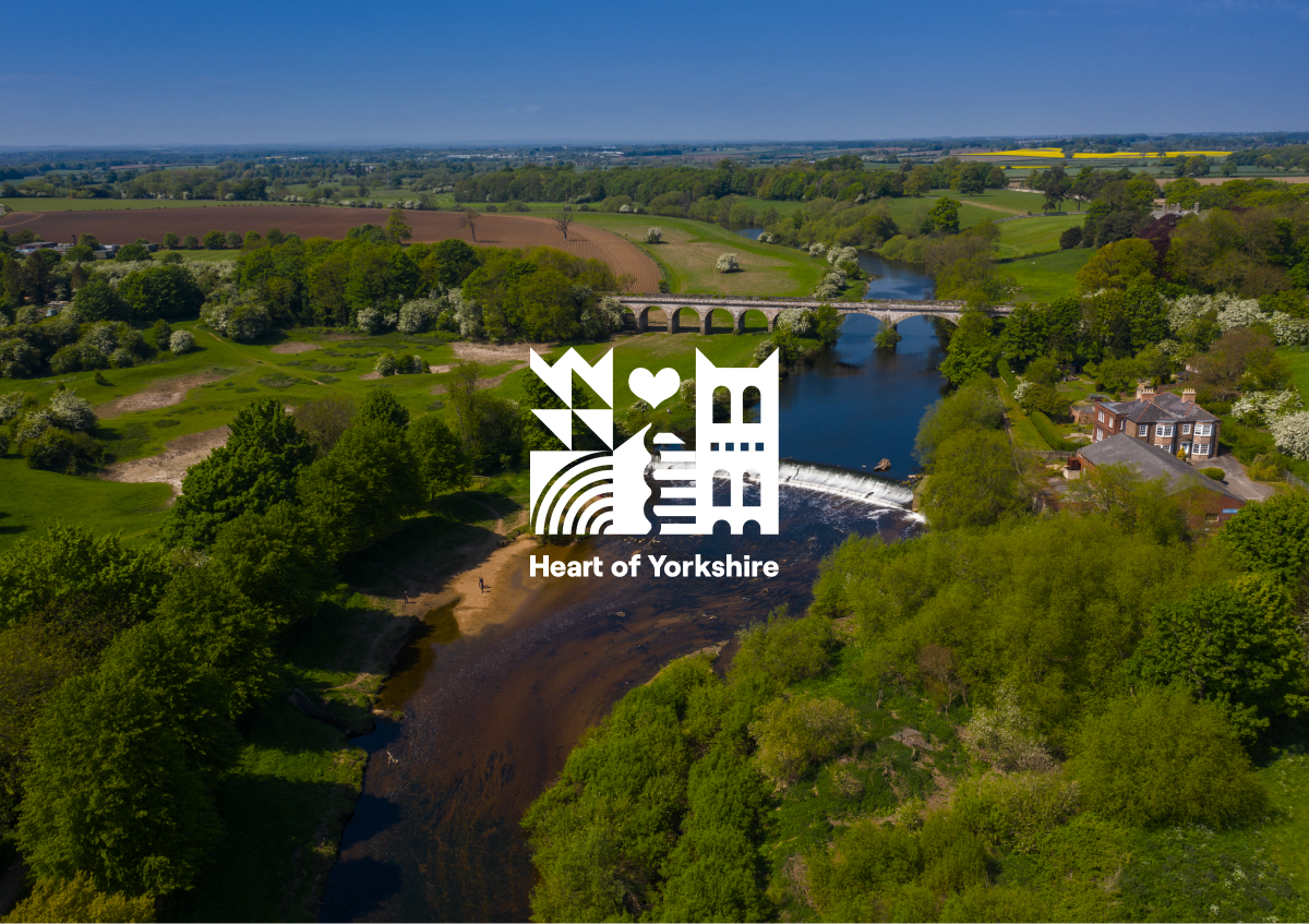 Heart of Yorkshire logo and landscape