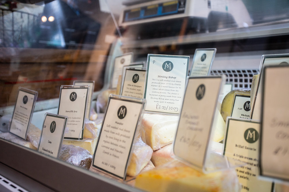Cheese counter in local independent shop