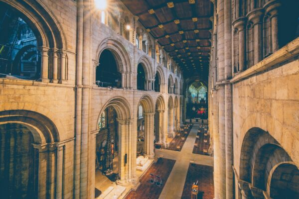 Looking down the Nave of Selby Abbey