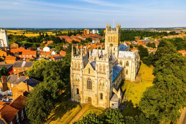 Drone Image of Selby Abbey