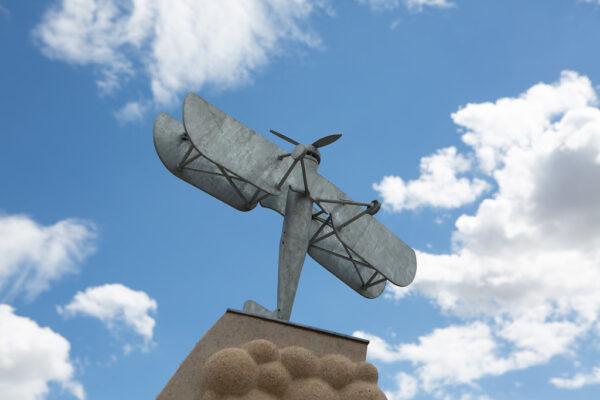 Aeroplane sculpture