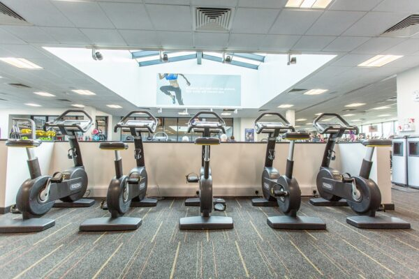 An image of the exercise bikes lined up at Selby Leisure Centre