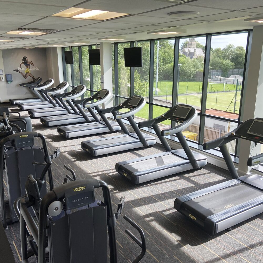 Running machines in the gym at Selby Leisure Centre