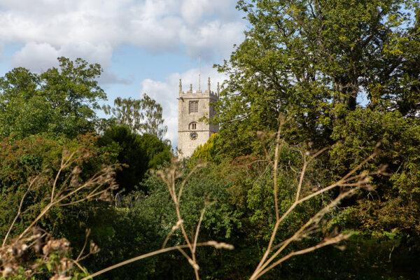 View of Church through trees
