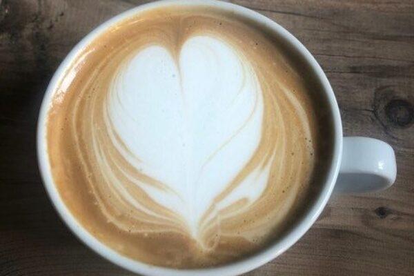 A fresh coffee
