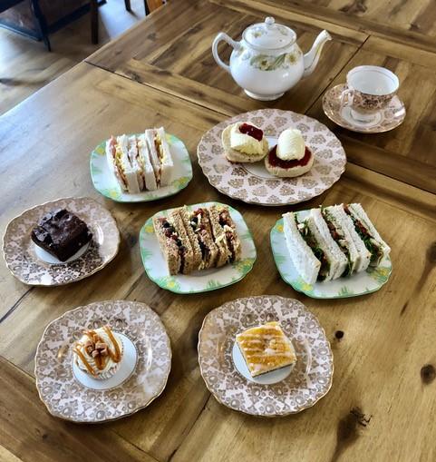 Afternoon Tea served on china plates