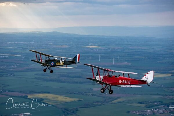 We operate two Tiger Moth aircraft