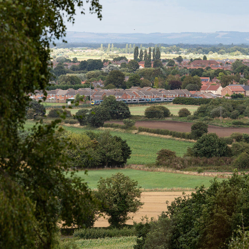 View across the Selby District and the Vale of York from the summit of Brayton Barff