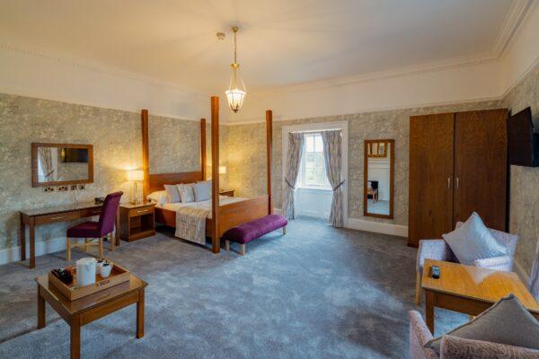 Bedroom at Hazlewood Castle
