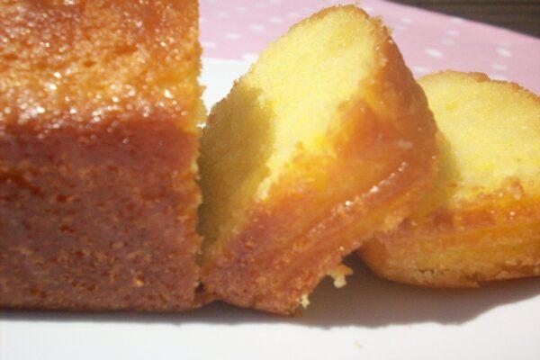 Lemon drizzle cake at Stillingfleet Lodge Gardens