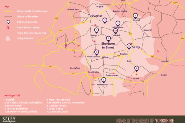 HIstory Map of Sherburn in Elmet & Tadcaster