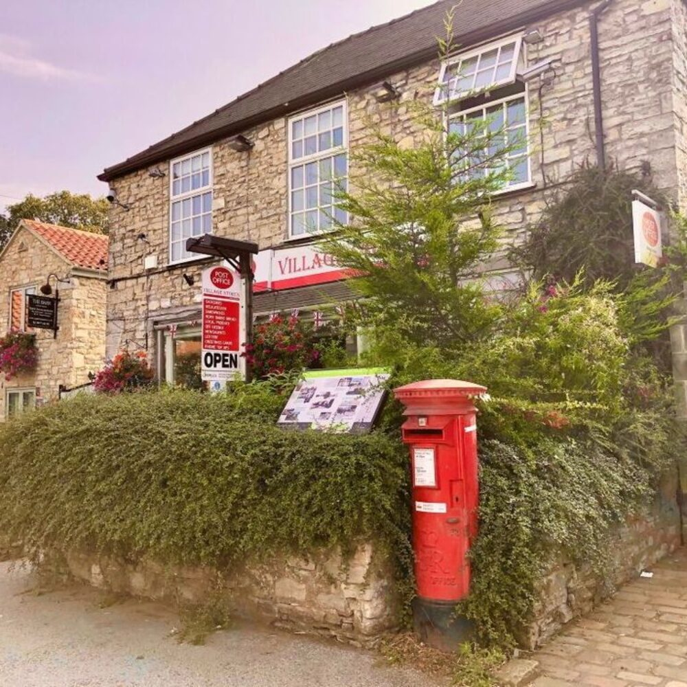 Village store and post box in Monk Fryston