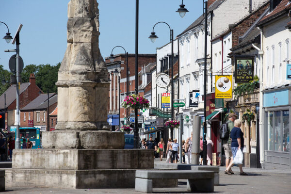 Market Cross and Selby High Street