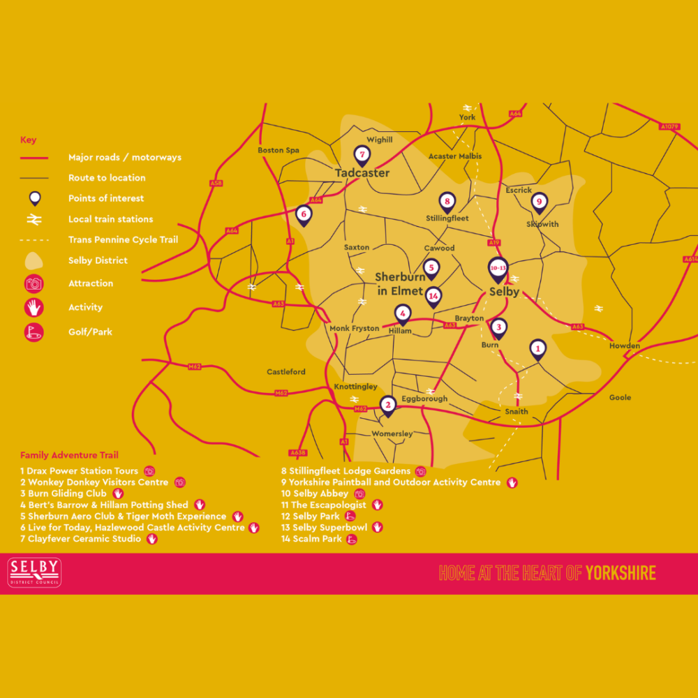 Family Map of Sherburn in Elmet & Tadcaster