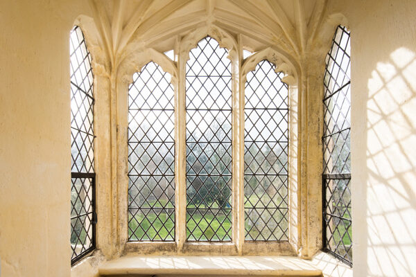Sitting room window at Cawood Castle