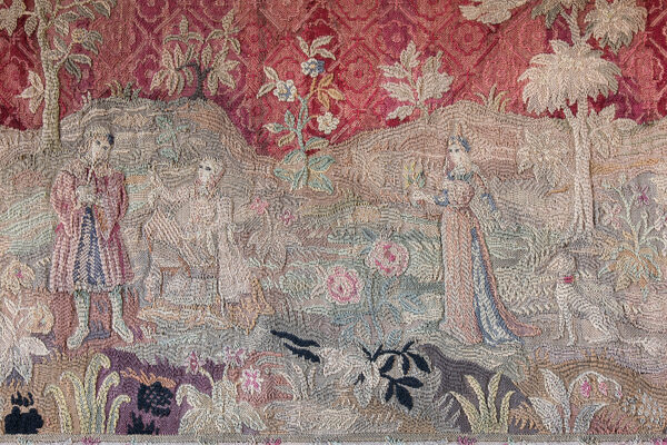 Tapestry found above the fireplace at Cawood Castle