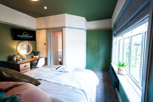Ensuite guest room at Sallow Tree House