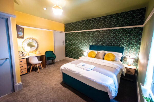 Guest bedroom at Sallow Three House