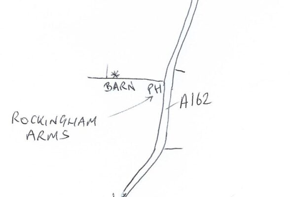 Map showing the meeting point for the Towton Battlefield Guided Walk