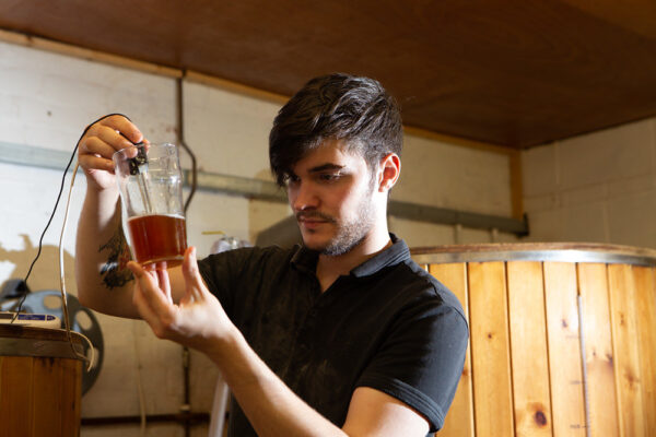 The brewing process at Jolly Sailor Brewery